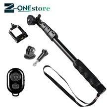 Yunteng bastão de selfie extensível, tripé portátil monopé para celulares iphone 7, 8, gopro 4, 188/5/6/7