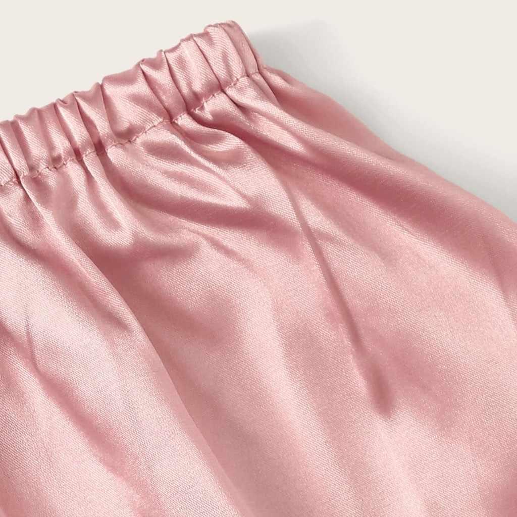 בתוספת גודל קיץ סקסי תחרה קלע הלבשת הלבשה תחתונה סאטן משי Bowknot חולצה מכנסיים סט הלבשת פיג 'מה תחבושת הלבשה תחתונה
