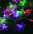 38 Lily Flowers Festival Necessary LED Light Wedding Party Decoration 10m Christmas Light Fit Outdoor Indoor
