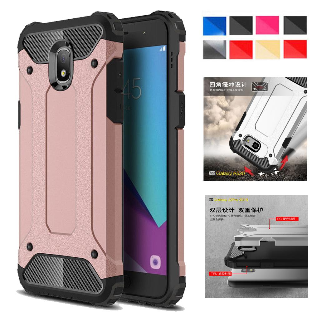US $7 14 |For Samsung Galaxy J7 Star / J7 2018 / J737 / J7V 2nd Gen / J7  Refine 2018 Hybrid Rugged Dual Protective Case Cover-in Fitted Cases from