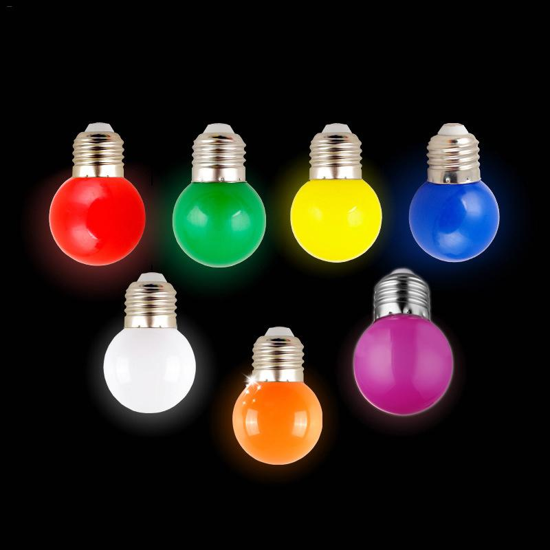 Colorful LED Spotlight Bulb 1W E27 7 Color Options