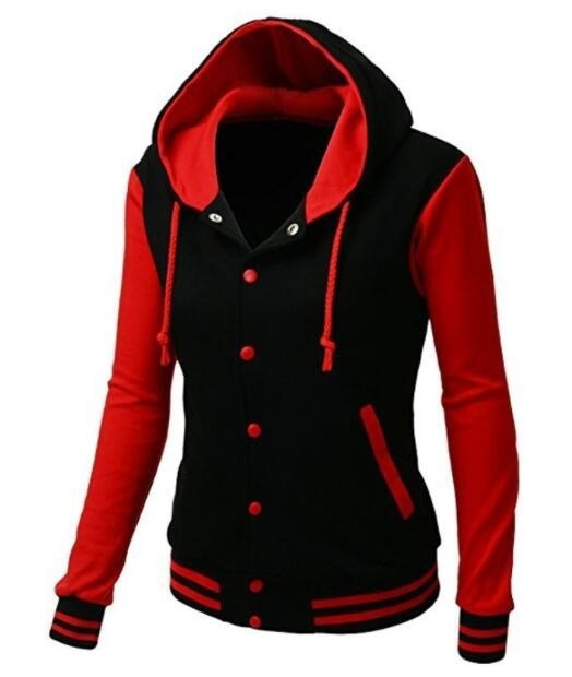 ZOGAA 2019 Spring Autumn Fashion Women's Color Block Hoodies Hooded Long-sleeved Outwear <font><b>Sweatshirt</b></font> <font><b>Baseball</b></font> Hooded Jacket Hot image