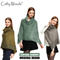 2016 Brand New Women's Winter Ponchos and Capes Blanket Women Knitted Shawl Cape Crochet Scarf Poncho Shawls Scarf Winter Poncho