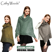 2016 New Brand Women S Winter Poncho Vintage Blanket Women Lady Knitted Shawl Cape Crochet Scarf