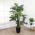 Искусственные растения 70-160 см жемчужные подсолнухи крупные зеленые растения мебель для гостиной комнатные искусственные растения