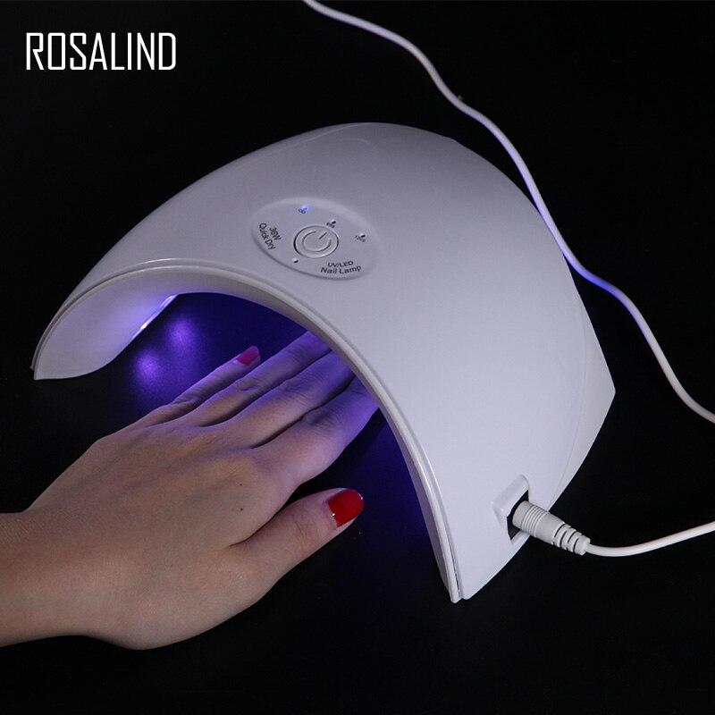 ROSALIND 36 W uv lámpara led de uñas USB conector luz uv gel para uñas ultravioleta led lámpara seca
