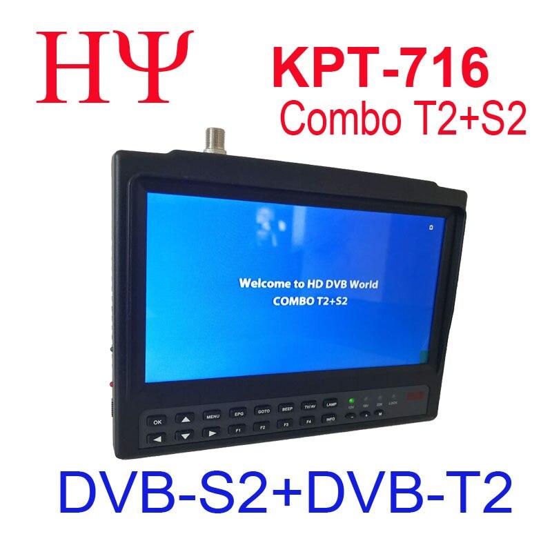 [Véritable] KPT-716TS DVB-S2 DVB-T2 satllite Finder mètre HD Satellite TV récepteur MPEG-4 modulateur meilleur satlink ws-6979 6933