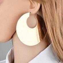 Myelo New European Kpop Punk Big Gold Filled Hoop Earrings For Women Hip Hop Basketball Wives Earrings Dubai Indian Jewelry 2018
