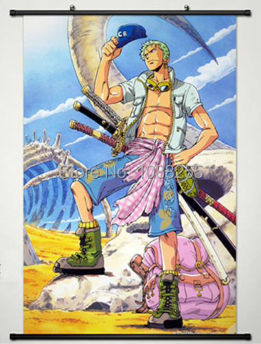 Home Decor Anime One Piece Roronoa Zoro Wall Scroll Poster