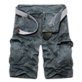 Men's camouflage Cargo Shorts Casual Summer Style Fashion Shorts Large Size Loose Beach Trousers Knee-Length New Brand 2017
