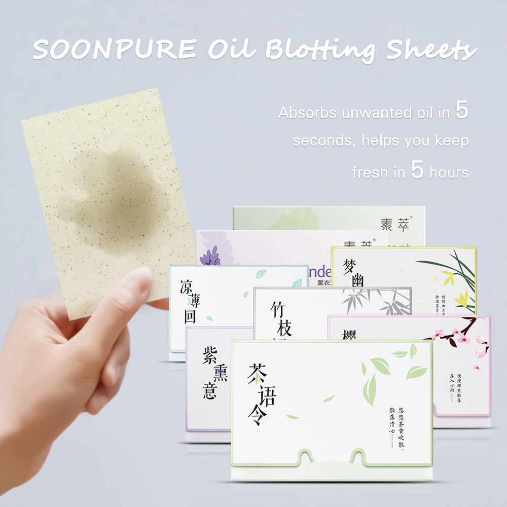 Soonpure Oil Blotting Sheets Face Cleanser Care Control Acnes Film Sheet Blackhead Remover Acne Treatment Deep Cleaning Skin 1pcs In Cleansers From Beauty