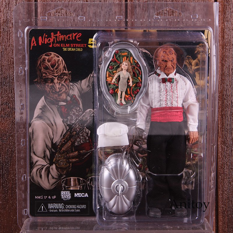 A Nightmare on Elm Street 5 NECA Freddy Krueger Serving Tray with Removable Lid & Chef Hat Horror Action Figures Toys horror film a nightmare on elm street 3 freddy krueger toys with lighting house action figure neca pvc collection model toy 28cm