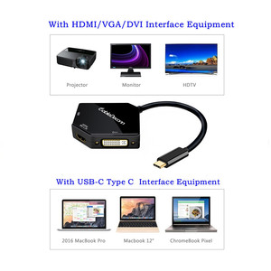 Image 2 - Адаптер USB C к HDMI 4K, адаптер USB 3,1 Hub Type c к VGA HDMI DVI, конвертер для смартфонов Samsung S8 Macbook