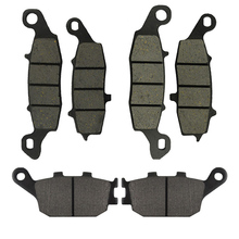 Motorcycle Front and Rear Brake Pads for Suzuki SV400 2003-2005 SV650 2002-2013 DL650 V-Strom 2004-2013 DL1000 2002-2010 for suzuki gsf1200 01 05 motorcycle front and rear brake pads set