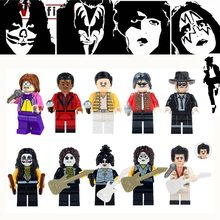 Freddie Mercury Legoings Kiss Band Tommy Thayer Paul Stanley Gene Simmons Eric Rock Music Building Blocks Children Gifts Toys(China)