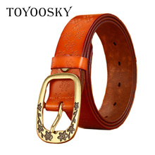 Luxury Genuine Leather Womens Belt Black Brown Solid Women Strap Female Woman for Waistbelt