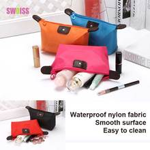 SWOISS 10pcs/Lot Cosmetic Bag Travel For Makeup Pouch Beautiful Functional Toiletry Kit Make Up Wash Storage Tool