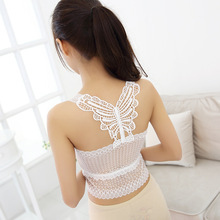 Ladies Cut Tops Hooked Neck Tops Deep Retro Lace Hollow Sexy Sling Vest Top 2015 Summer Fashion Lace Bralette Cropped Feminino