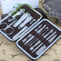 Perfect Summer Stainless Steel Nail Art Manicure Tools Set 12in 1 Nails Clipper Scissors Tweezer Knife Manicure Sets
