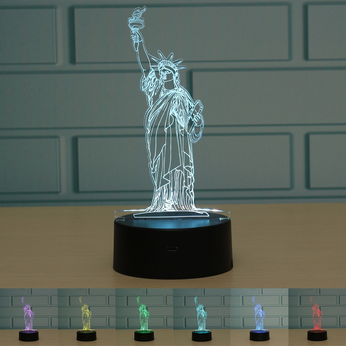 Lighting Nyc: New York City Statue Of Liberty 3D LED Night Light Touch