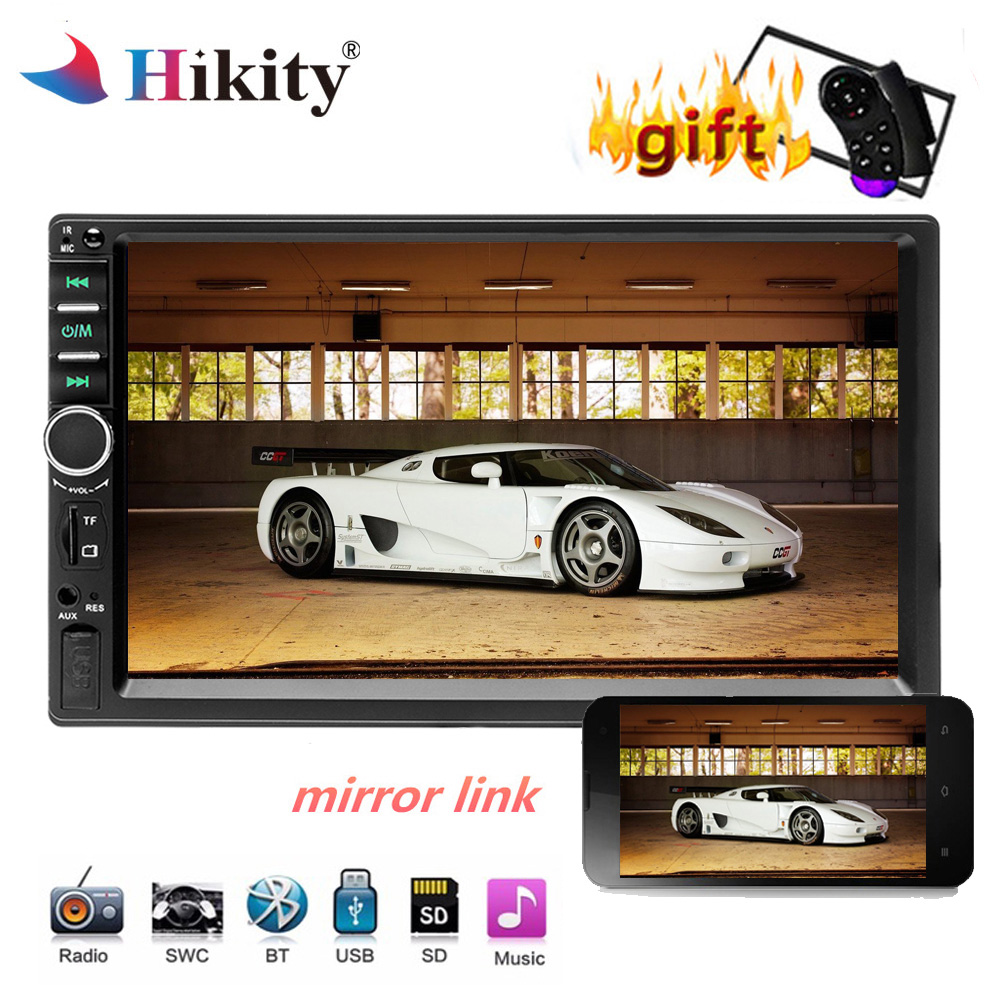 Hikity Car Multimedia 2 Din Car Radio MP5 Player 7 Touch Screen 2din Autoradio Bluetooth Music Video Player FM Car Audio image