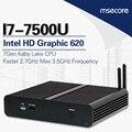 Fanless intel i7 7500u mini pc windows 10 vara pc sistema barebone NUC Computador Desktop nettop Kabylake HD620 Gráficos 300 M wi-fi