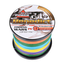 brands new braided fishing line 1000M pe Japan Multifilament line Rainbow fishing product braided wires 4strands fishing thread
