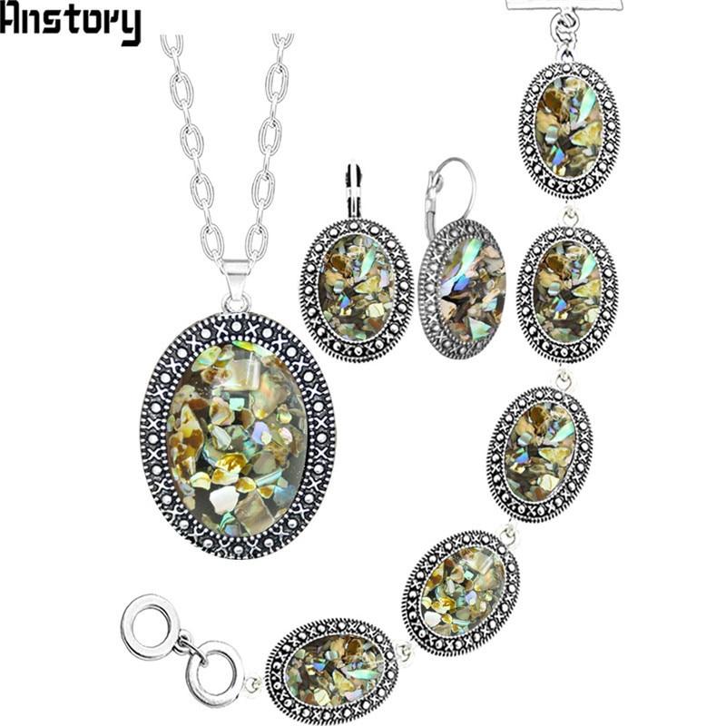 Oval Shell Jewelry Set...