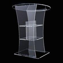 Прозрачная трибуна led бар спикер pulpit Подиум стол мебель кристалл ПММА акриловый плексиглас leckern Логотип Настроить