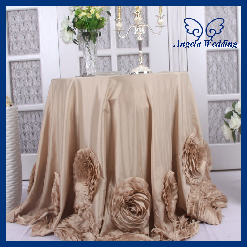 CL052A New Fancy Wedding 108u0027u0027 Round Champagne Table Cloth With Rose In  Tablecloths From Home U0026 Garden On Aliexpress.com | Alibaba Group