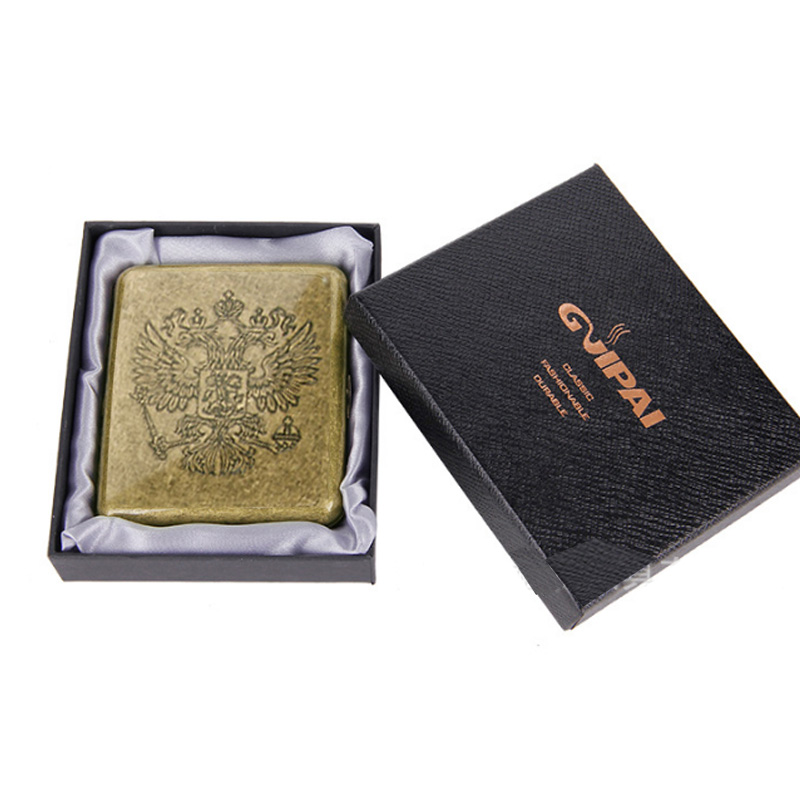 Vintage Metal Cigarette Case For 20 Pcs Classic Design Edition Cigarette Case With Box Men Gift Cigarette Accessories