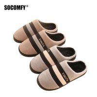 1ce383a495 SOCOMFY Men Autumn Winter Indoor Slippers For Casual Home Sneakers Warm  Shoes Soft Plush Male Cotton. SOCOMFY Homens Outono Inverno Chinelos ...