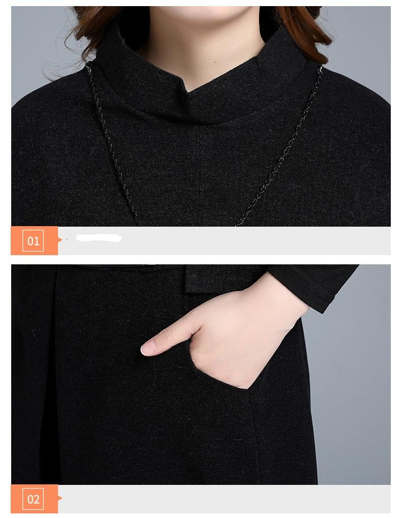 Pour Deux Femme Vêtements Printemps Femmes Black Robe D'automne Taille My2329 Grande Ensemble 2019 Bureau Noir Pièces Élégante Robes SqWxEgx