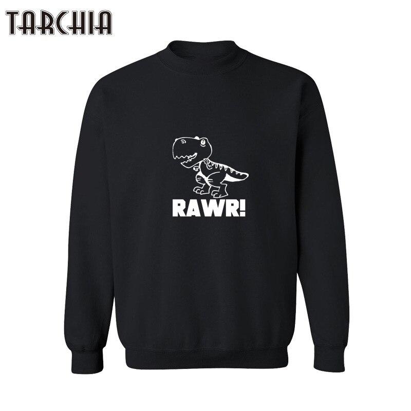 TARCHIA Dinosaur Print Sweatshirt Man Winter Pullover Sweat Shirts Anime Superhero Printed Sweatshirts Fun Clothes