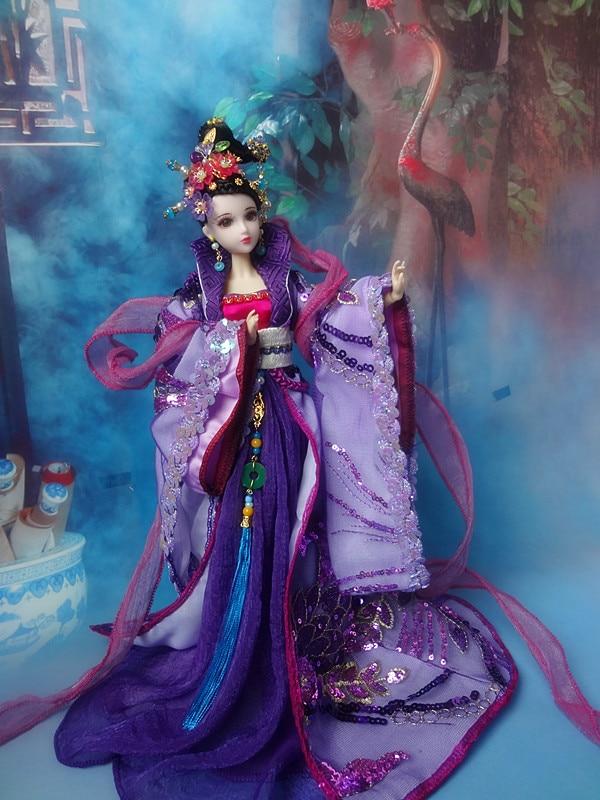 Gratis Shopping 32cm high-end kinesisk Qing Dynasty Princess Dolls - Dockor och tillbehör - Foto 4