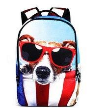 3D Animal Travel Backpacks For Teenagers Cute Dog/Cat/bear/penguin/ Backpacks School Bag For Women Men backpack