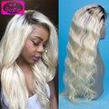 100% Девственных Человеческого Волоса 613 Платиновая Блондинка Человеческих Волос Full Lace парик Glueless Бразильские Объемная Волна Парик Фронта Шнурка Для Белых Женщин