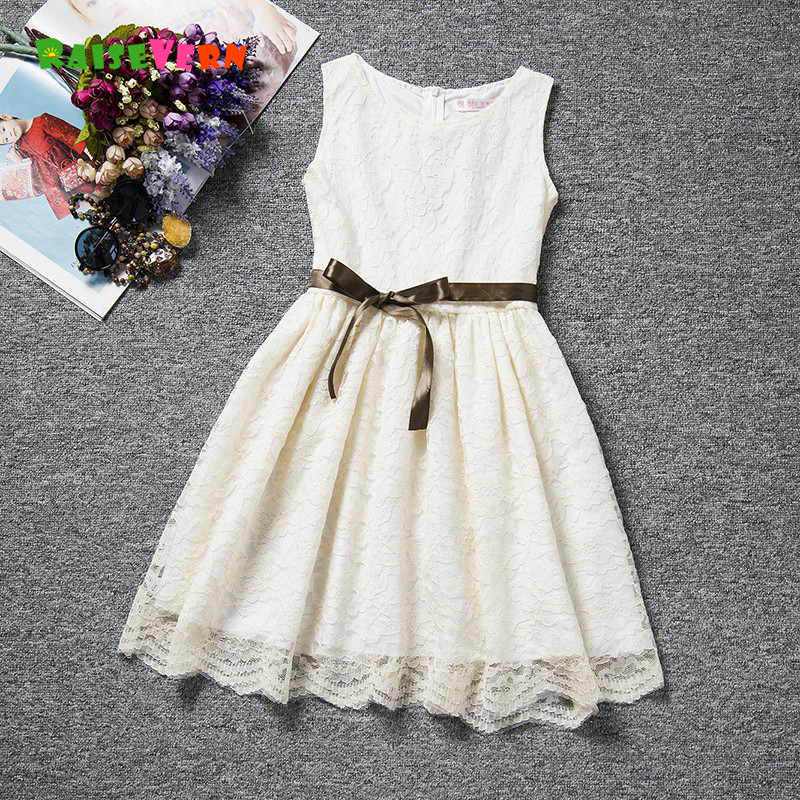 2018 Summer Infant Girls Lace Dresses Kids Sleeveless Princess Party Dress Toddler Girl Clothing Children Casual Clothing 2016 summer style children baby girls dress princess clothing kids sleeveless casual party dresses