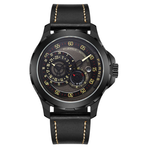 44mm parnis black dial sapphire glass complete calendar 21 jewels miyota automatic movement men s watch 44mm Parnis Black Dial Sapphire Glass Complete Calendar 21 jewels Miyota Automatic Movement men's Watch