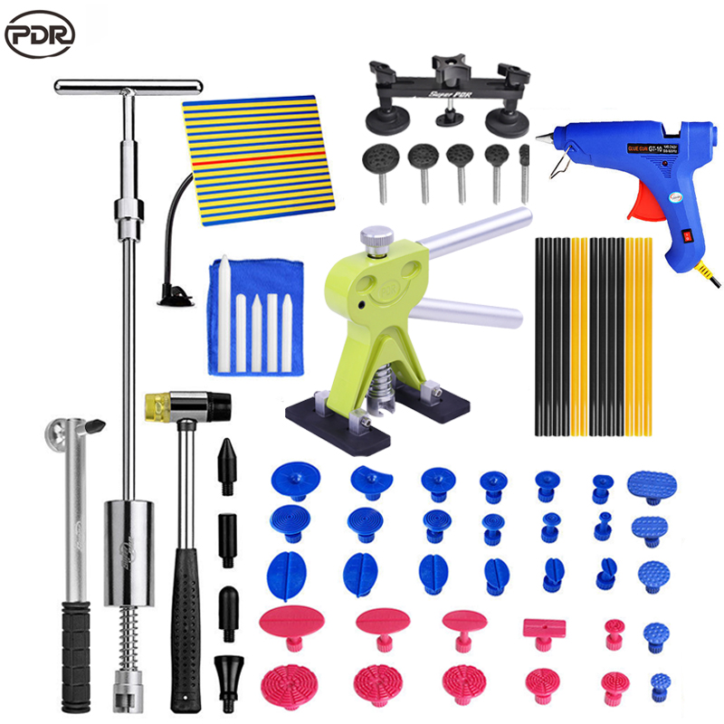 PDR For Car Tool Kit Dent Removal Car Dent Repair Tools  Paintless Dent Repair Car Body Repair Kit Dent Lifter Tool Set 46pcs socket set 1 4 drive ratchet wrench spanner multifunctional combination household tool kit car repair tools set