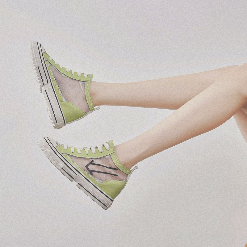 RY РЕЛА/Модная женская обувь на высоком каблуке; Новинка 2019 года; сетчатая дышащая повседневная спортивная обувь красного цвета