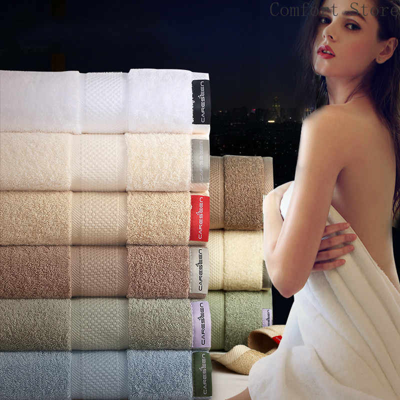 Luxe hôtel serviette de bain coton adultes augmenter épaississement absorbant l'eau douce grande serviette pour les femmes amoureux salle de bain femme B5T8