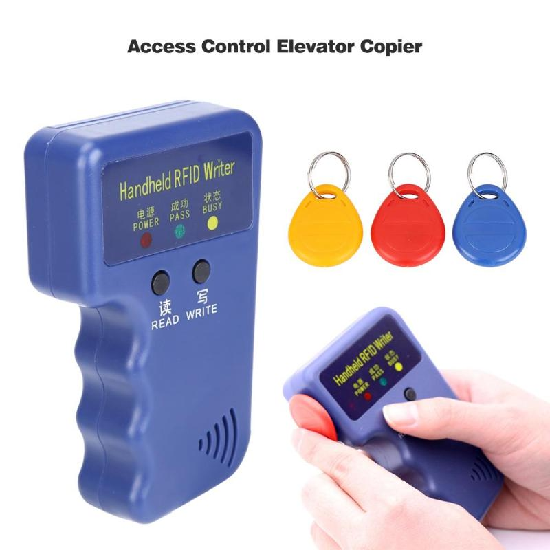 Duplicator Key Handheld 125KHz RFID ID Card Copier Writer Reader Writable EM4305 ID Card  AWID Card Can Be Copied Black/Blue