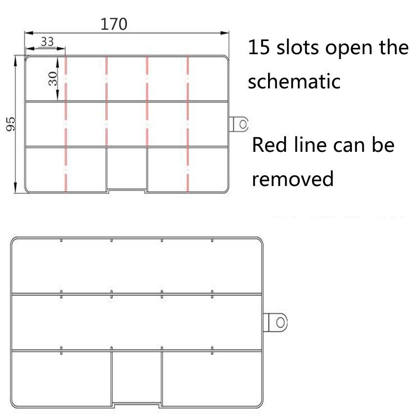 1 UNID Nuevas 15 Ranuras Células Caja de Herramientas de Joyería - Almacenamiento de herramientas - foto 6