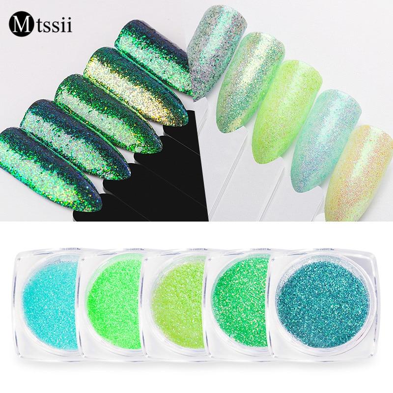 1 box G Color Nail Glitter Set Colorful Summer Rainbow Sandy Powder Nail Art Dust Pigment Nail Art Decorations Nail Dipping