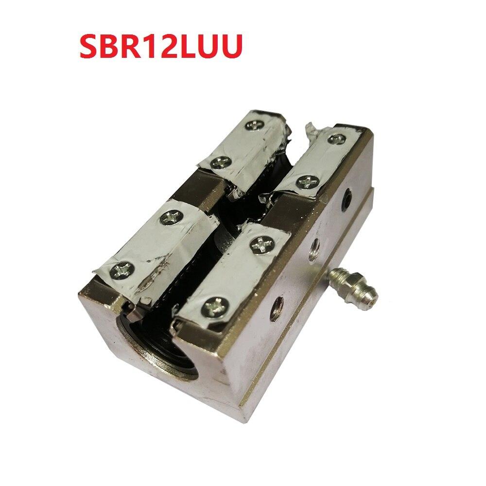 1PCS SBR12LUU 12mm SBR12 Long Linear Motion Ball Bearing CNC Slide Bushing for linear shaft 3D printer parts