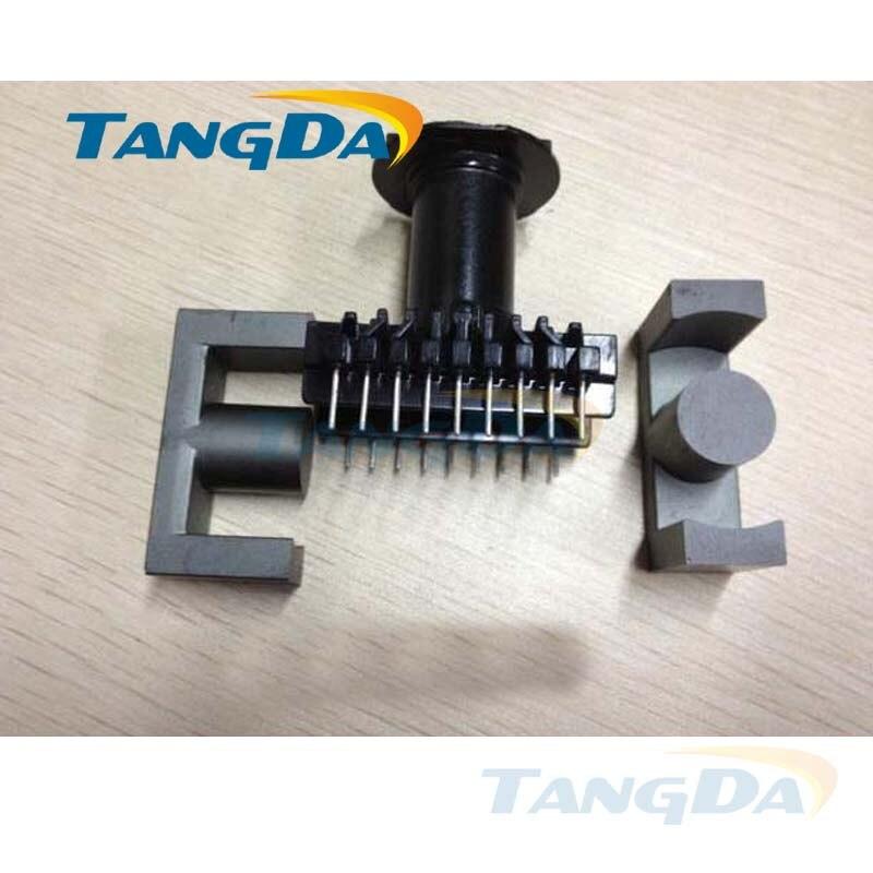 Tangda EC49 core EC Bobbin magnetic core + skeleton 9+9 pin sewing Transformers Inductors ertical tangda ec4215 ec42 15 core bobbin magnetic core skeleton soft magnetism ferrites magnetic 7 7pin transformers pc40 ertical ec42