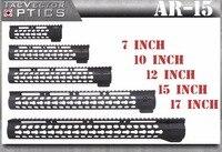 Taktik Ultra Ince KeyMod 7 10 12 15 17 inç Ücretsiz şamandıra Picatinny Ray Handguard Dağı fit. 223/5.56 AR15 M4 M16