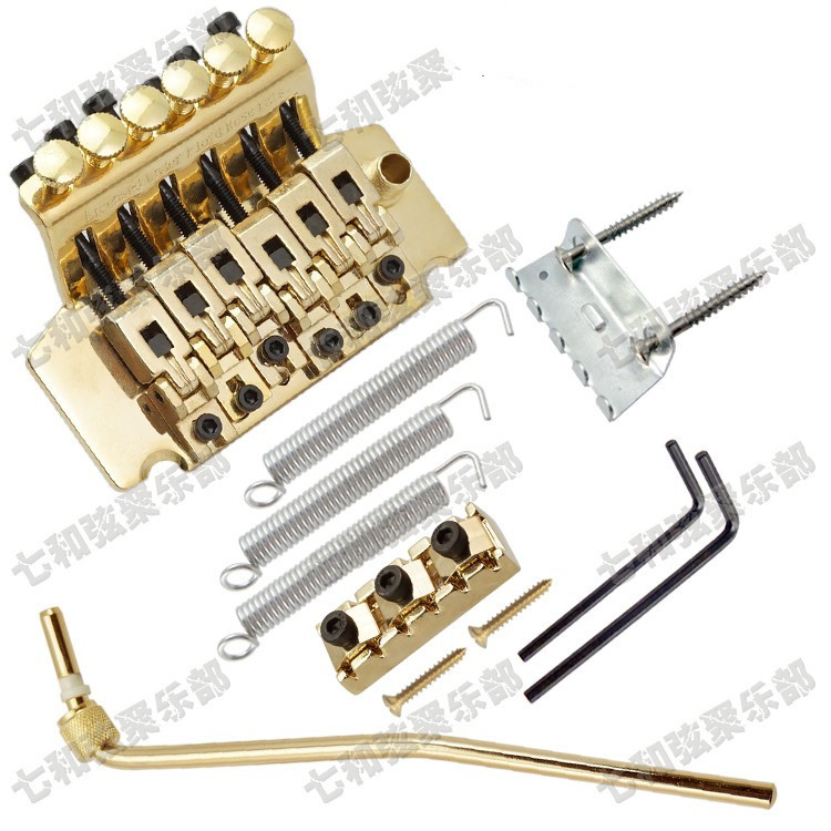 left-hand Gold Floyd Rose Electric Guitar Bridge Guitar Parts 6 Strings Bridge Musical instruments accessories what she left