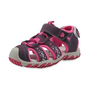 Image 3 - Apakowa חדש בנות ספורט חוף סנדלי מגזרת קיץ ילדי נעלי סגור הבוהן בנות סנדלי ילדי נעלי האיחוד האירופי 21 32